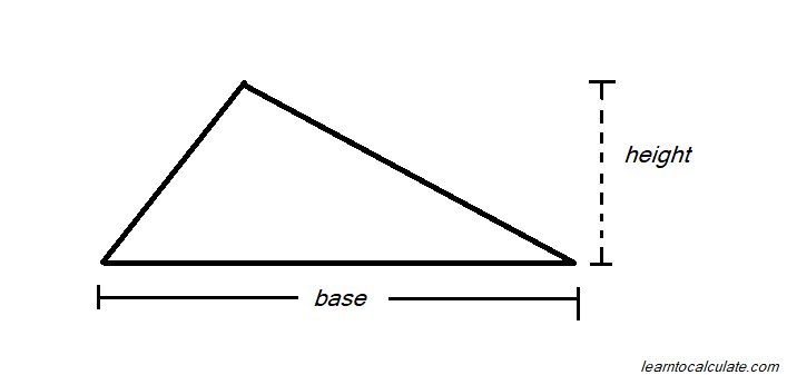 how to calculate area of a triangle