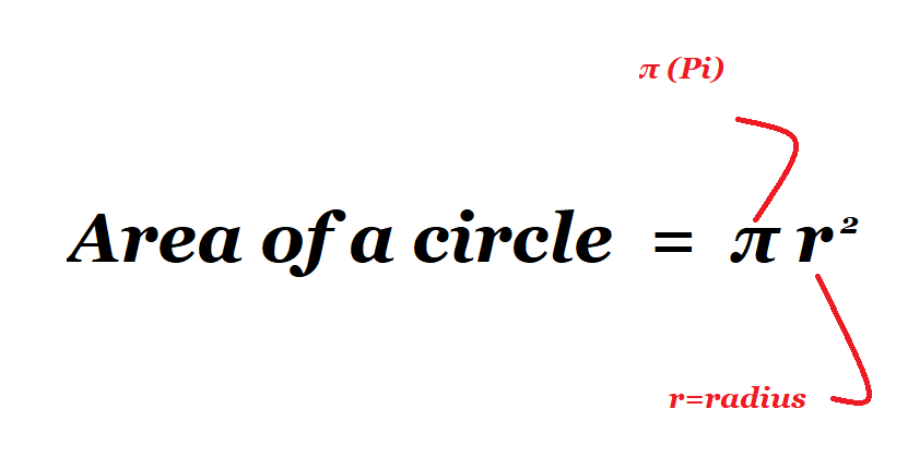 how to calculate area circle