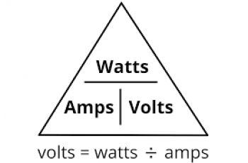 Calculate Voltage from Watts.
