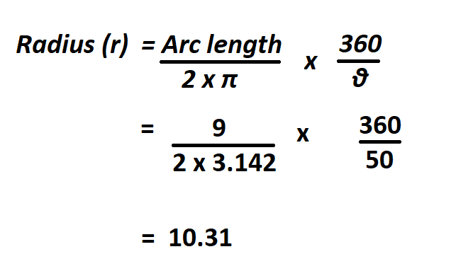 Calculate Length of an Arc