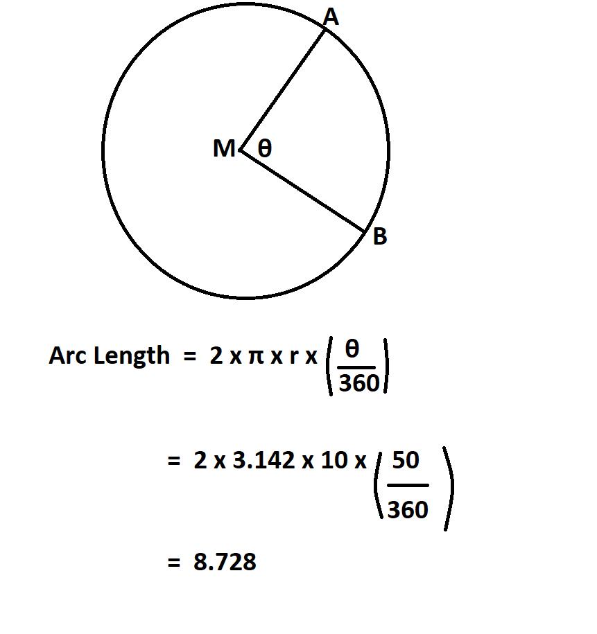 Calculate Length of an Arc.