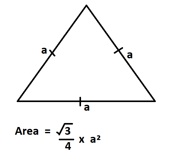 How to Calculate Area of an Equilateral Triangle.