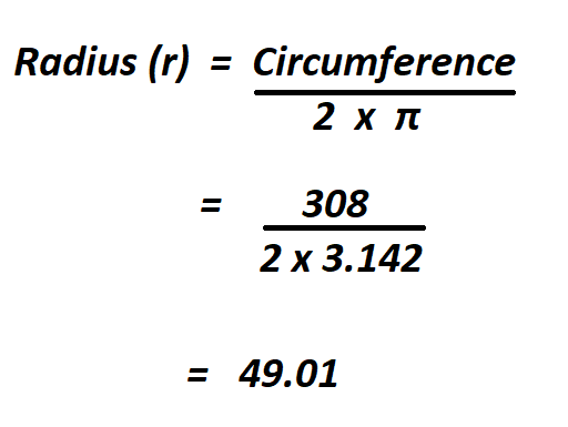 Calculate Radius from Circumference.