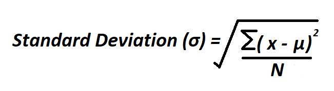 Calculate Standard Deviation.