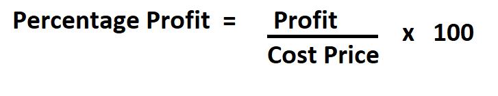 Calculate Percentage Profit.
