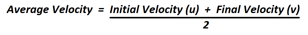 Calculate Average Velocity.