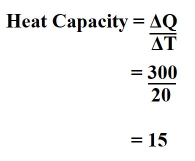 Calculate Heat Capacity.