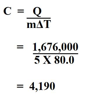 Calculate Specific Heat.