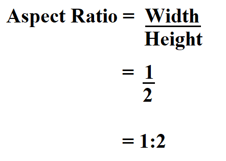 Calculate Aspect Ratio.