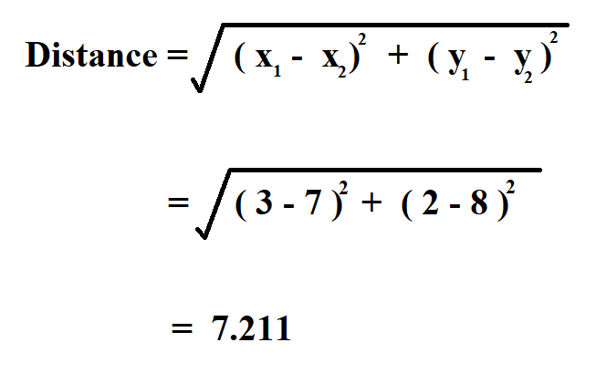 Calculate Distance Between Two Points.