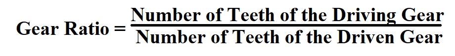 Calculate Gear Ratio.