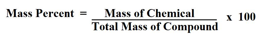 Calculate Mass Percent.