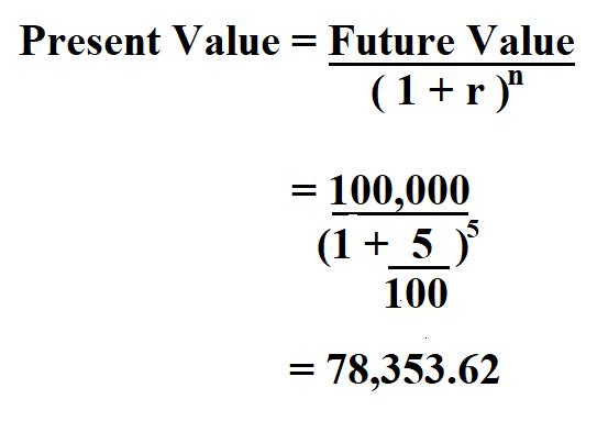 Calculate Present Value.