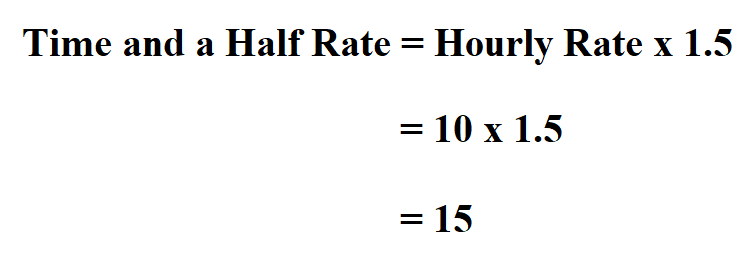 Calculate Time and a Half.