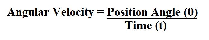 Calculate Angular Velocity.