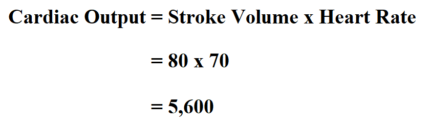 Calculate Cardiac Output.