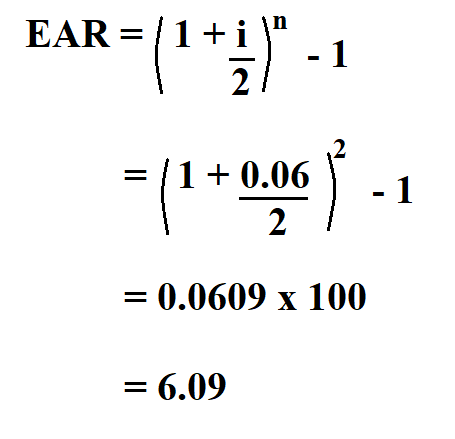 Calculate Effective Annual Rate.