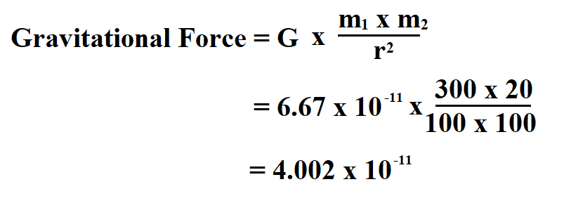 Calculate Gravitational Force.