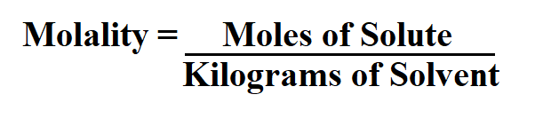 How to Calculate Molality.