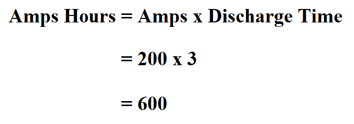 Calculate Amps Hours.