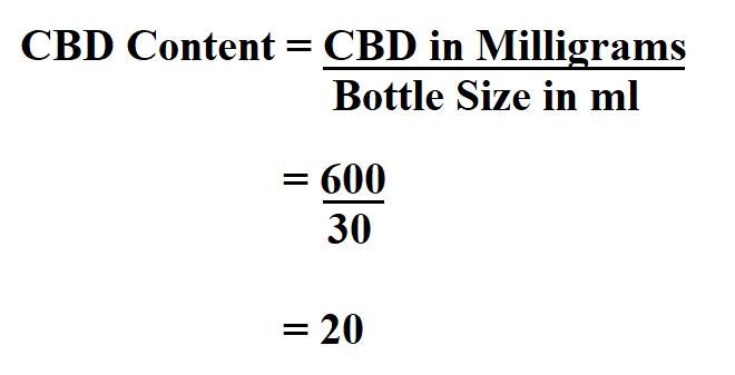 Calculate CBD Content.