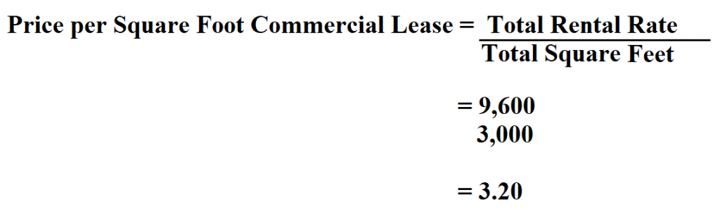 Price per Square Foot Commercial Lease.