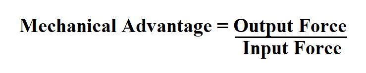 Calculate Mechanical Advantage.