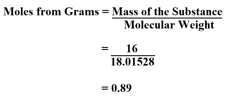 Calculate Moles from Grams.