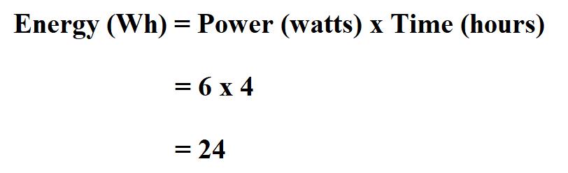 Calculate Watt Hours.