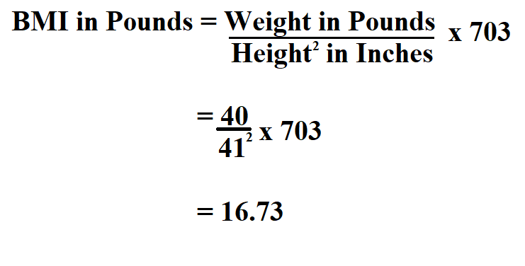 Calculate BMI in Pounds.