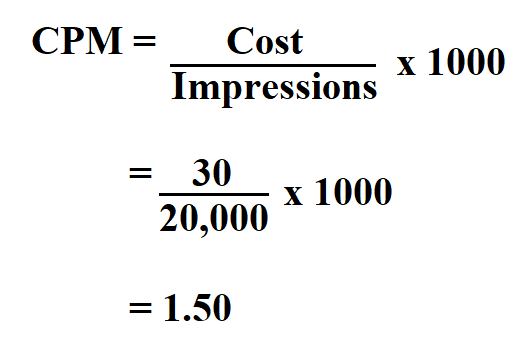 How to Calculate CPM.