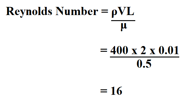 Calculate Reynolds Number.