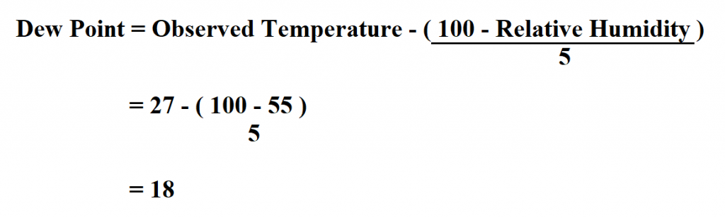 Calculate Dew Point.
