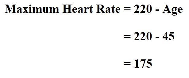 Calculate Maximum Heart Rate.