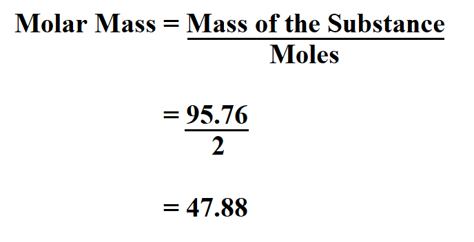 Calculate Molar Mass.