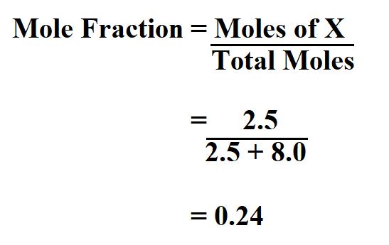 Calculate Mole Fraction.