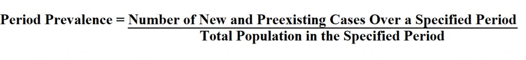 Calculate Period Prevalence.