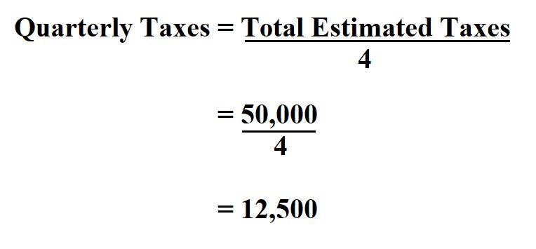 Calculate Quarterly Taxes.