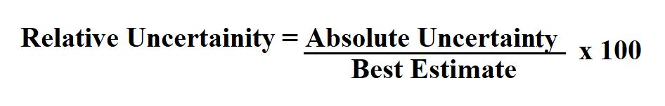 Calculate Relative Uncertainty.