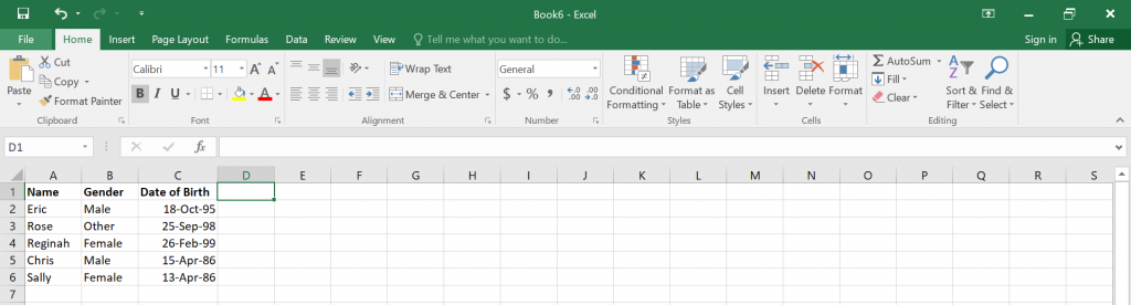 Calculate Age in Excel.