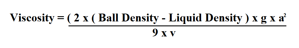 How to Calculate Viscosity.