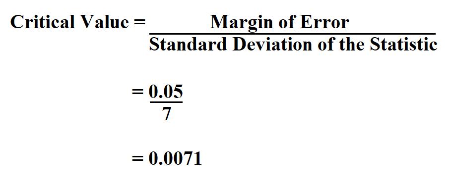 Calculate Critical Value.