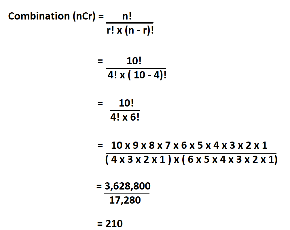 How to Calculate Combination.