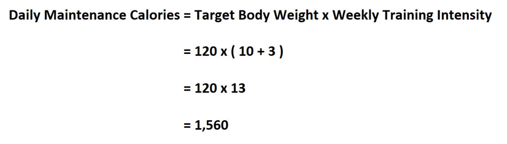 Calculate Maintenance Calorie.