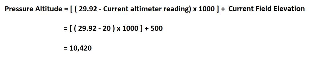 Calculate Pressure Altitude.