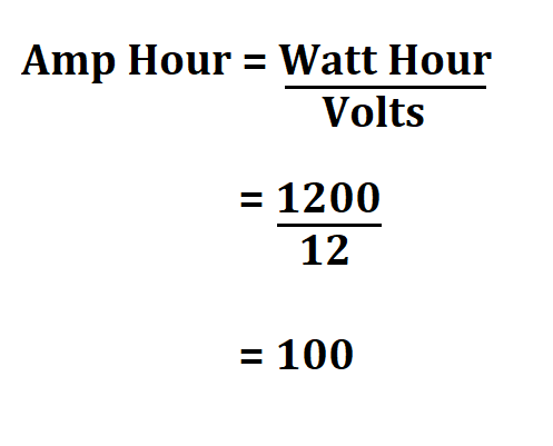 Calculate Battery Amp Hours.