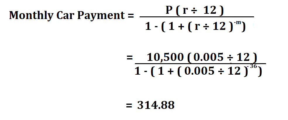 Calculate Car Payment.