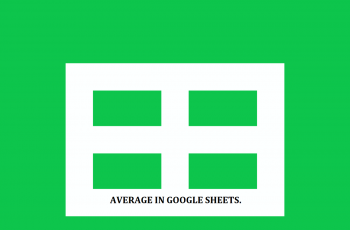Average in Google Sheet.
