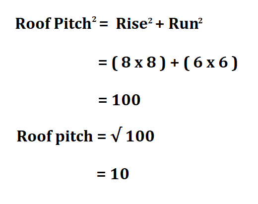 Calculate Roof Pitch.