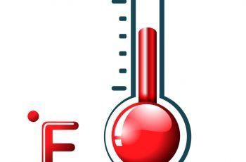 Convert Celsius to Fahrenheit.